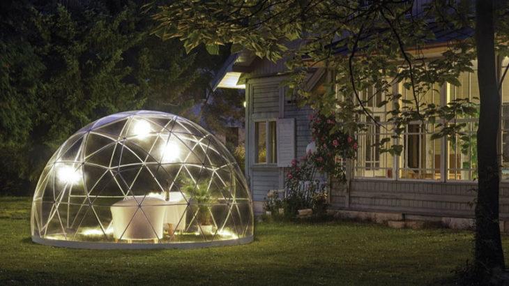 庭先でグランピング気分?!ドーム型テントのガーデンイグルーGardenIgloo