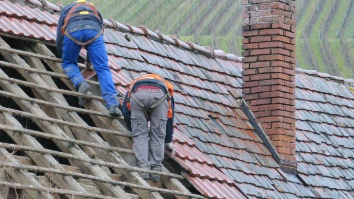 高所屋根での施工作業安全対策の墜落防止ロープセット「ルーフワーカー2」